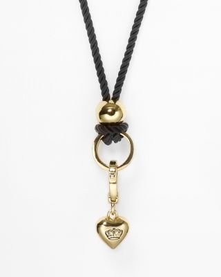 Juicy Couture Keep Me Hanging On Cord Charm Catcher Necklace