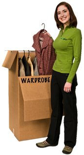 EcoBox 24 x 21 x 46 Inches Large Wardrobe Box with Hanger Bar (Pack of 3) (Wardrobe Packing Boxes compare prices)
