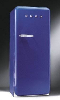Smeg FAB28UBL 9.22 cu. ft. 50's Style Refrigerator - Blue, Left Hinge (Mini Smeg Fridge compare prices)