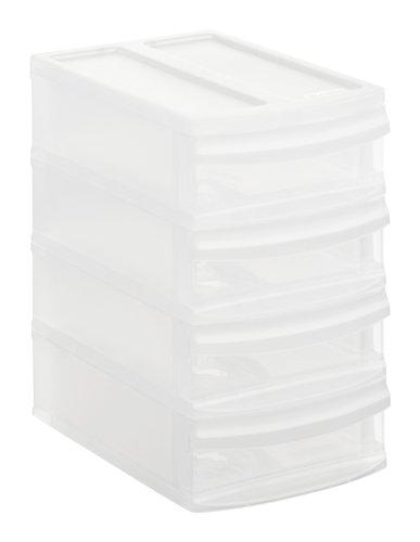 Rotho-Schubladenbox-Systemix-Tower-aus-Kunststoff-Ablagebox-Grsse-XS-196x14x233-cm-transparentes-Ablagesystem-DIN-A6-Brobox-fr-Schreibtisch-Bro-uvm-Hergestellt-in-der-Schweiz-1114700096