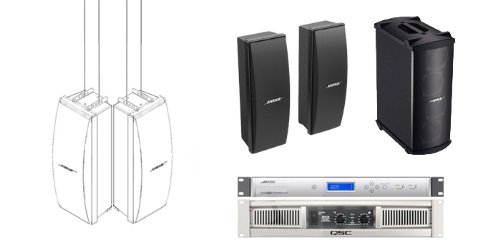 bose 402. bose pro audio auditorium sound system 2 402 loudspeakers, mb4 sub, panaray