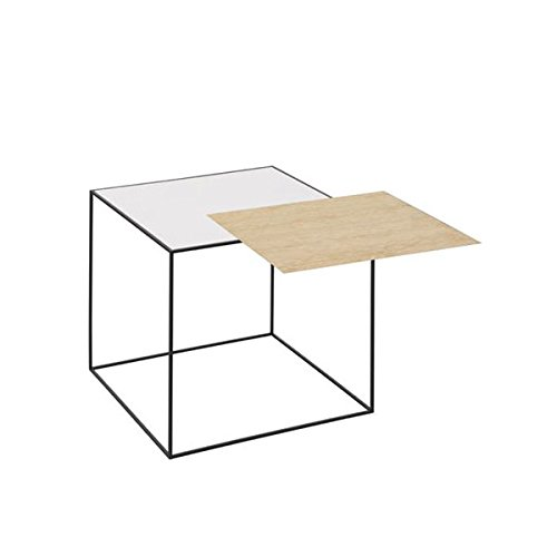 by Lassen Twin Table weiß/eiche (42x42cm)