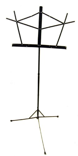 On Stage SM7122B Folding Music Stand, Black