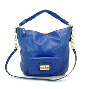 Coach Kristin Leather Shoulder Hobo Bag Purse 14783 Blue