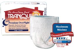 Tranquility Premium Overnight Disposable Underwear, Small