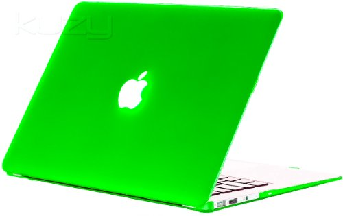 $$  Kuzy - AIR 13-inch Apple GREEN Rubberized Hard Case Cover SeeThru for MacBook Air 13.3-inch (A1369 and A1466) - Apple Green