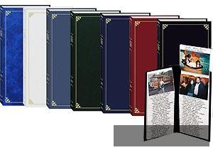 pioneer flip up memo pocket bound photo album random solid color series covers with gold trim. Black Bedroom Furniture Sets. Home Design Ideas