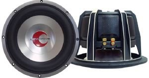 Lanzar Optidrive OPTI1232D Subwoofer avec Cône Moulé en Alliage d'Aluminium et Double Bobine Mobile de 2 Ohms 2200 W 30,48 cm Argent
