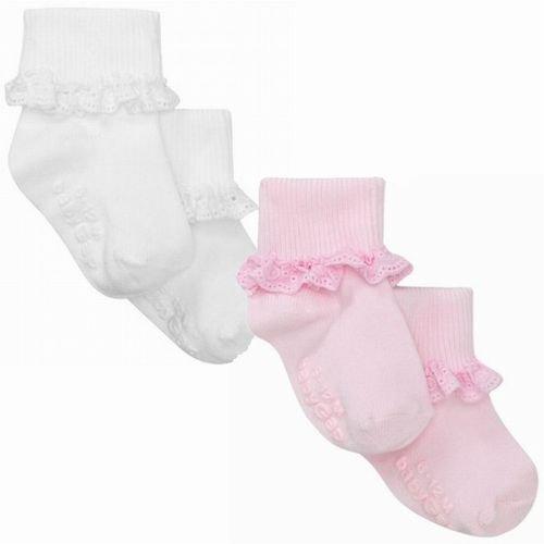 GAP (ギャップ) baby GAP kids フリル レース付 ソックス 靴下(ピンク・ホワイト)【月齢:6ヶ月~3歳】(並行輸入品)