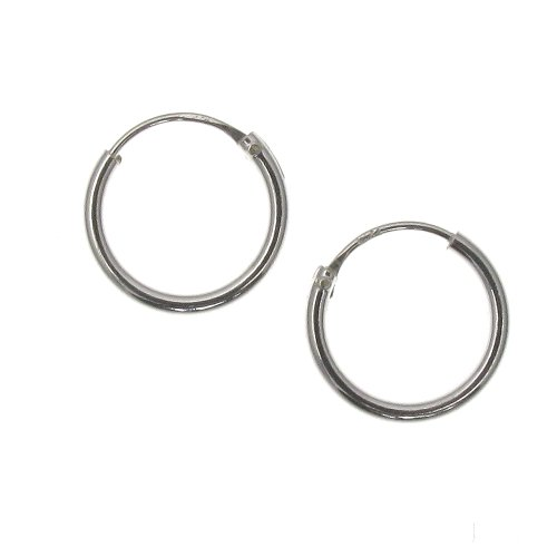Touch Jewellery TJ0560 - Orecchini a cerchio semplici in argento puro, 10 mm