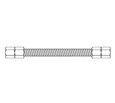 T&S Brass HG-SD-48 Stationary Gas Hose with 3/4-Inch Diameter and 48-Inch Long