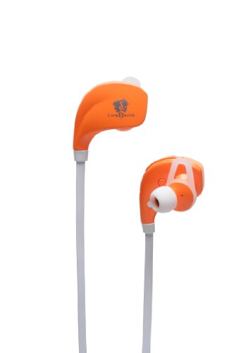 Life N Soul B106-O Bluetooth Sport Earphones, Orange