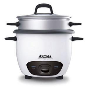 Aroma ARC-743-1NG Rice Cooker 6C White (ARC-743-1NG) by Aroma