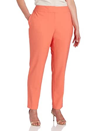 Vince Camuto Women's Plus Size Skinny Ankle Pant, Papaya, 14W