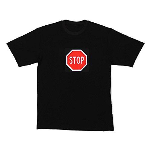 Resident DJ LED-Shirt STOP taglia M