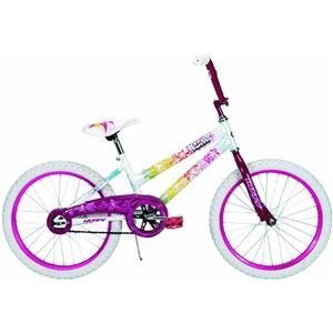 Features An Oversized Steel Diamond Frame With Unicrown Steel Fork With Leading Edge Dropouts. - Huffy 20-Inch Girls So Sweet Bike (Aloha Pearl White/Orchid Pink)