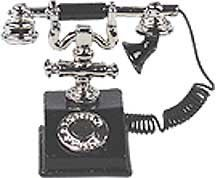 Dollhouse Miniature 1920s Telephone - 1
