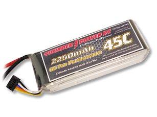 2250mAh 4S 14.8V G6 Pro Performance 45C LiPo