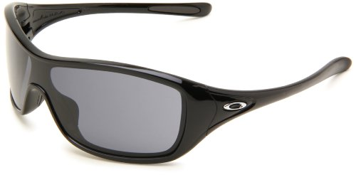 Oakley Women's Ideal Shield Sunglasses,Polished Black Frame/Grey Lens,One Size