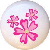 Disney Princess Pink Flowers Drawer Pull Knob