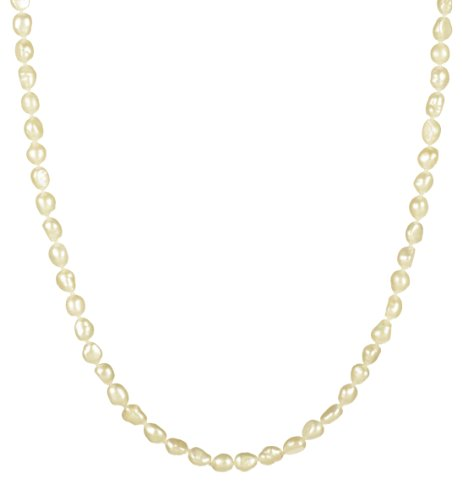 5-6mm White Freshwater Cultured Baroque Pearl Necklace 24