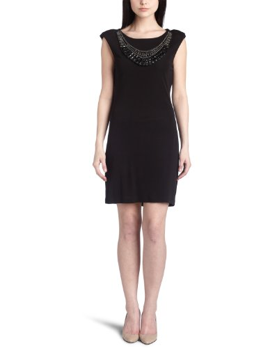 ABS Allen Schwartz Women's Jeweled Neck Drape Back Dress