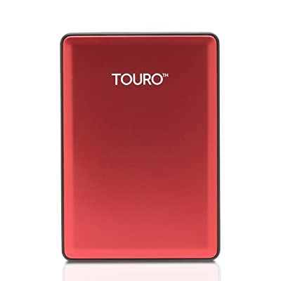 HGST Touro S 1TB Red 7200 RPM Stylish ultra-portable Hard Disk with Free Pouch Bag worth Rs. 299.00
