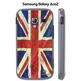 Buzzebizz Coque pour Samsung Galaxy Ace 2 Motif Drapeau Royaume-Uni