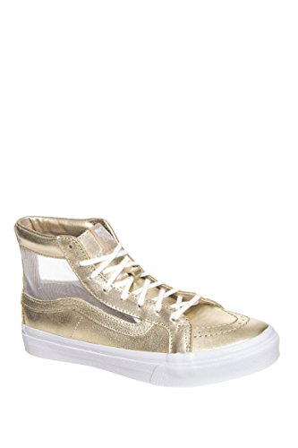 Sk8-Hi Slim Cutout Metallic High Top Sneaker