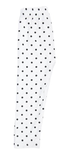 White Cotton Polka Dot Leggings Pants
