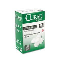 Curad Sterile Cotton Balls, 130/Box