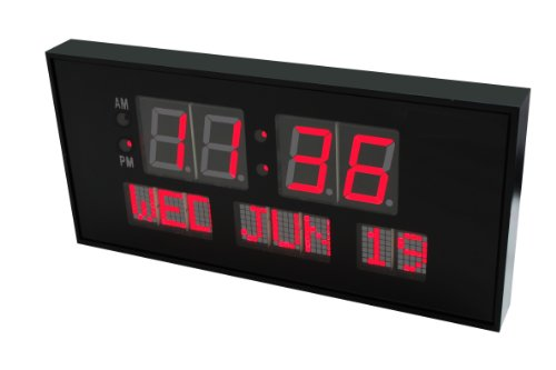 Metro Fulfillment House Ehealthsource Digital Led Calendar Clock, 15 3/4 Day And Date | Large Clock Shelf Or Wall Mount