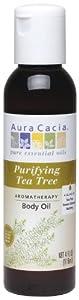 Aura Cacia Body Oil, Purifying Tea Tree, 4 Fluid Ounce