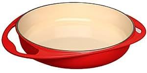 Le Creuset Cast Iron Tatin Dish, 25 cm - Cerise