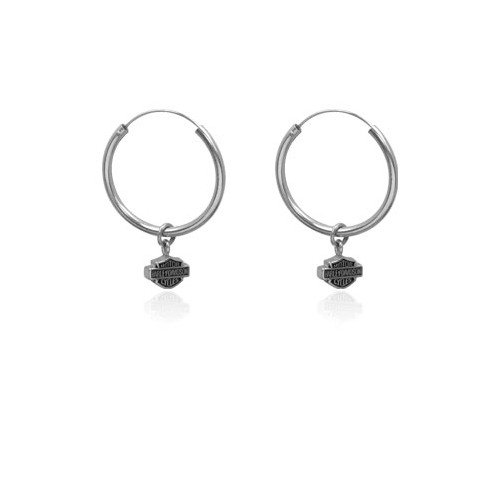 Harley Davidson® 20mm hoops sterling earrings HDE0138 by MOD®