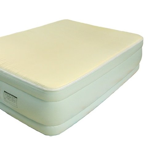 Quick Luxe Queen Size Raised Air Bed Mattress wMemory Foam