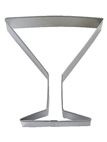 """R&M Martini Glass 4"""" Cookie Cutter In Durable, Economical, Tinplated Steel"""