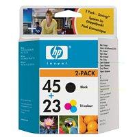 HP SA309AE  Ink Cartridge No45+No23 42Ml+30Ml 2Pk