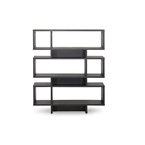 Baxton Studio FP-6DS-Shelf (3A) Cassidy 6-Level Modern Bookshelf, Dark Brown