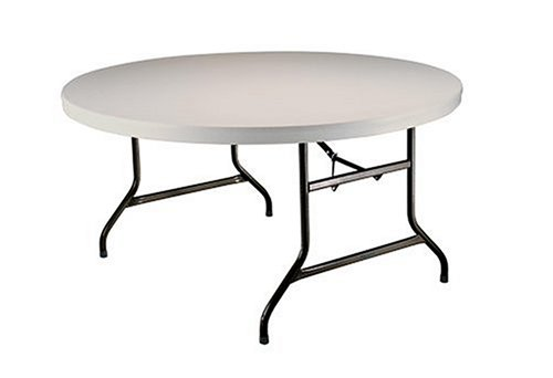 Beau On Sale Lifetime 22970 5 Foot Round Table With 60 Inch Round Molded Top,  Almond Finish