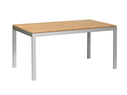 ALCOR Tisch Gartentisch 90x160 FSC Teakholz Alu