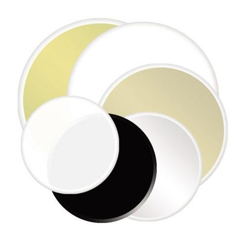 Reflector plegable Lite Disc Photoflex de 32, color plateado y dorado.