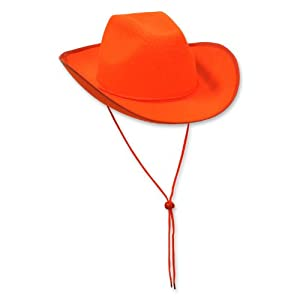 Beistle 60846-O Felt Cowboy Hat, 6 Per Package