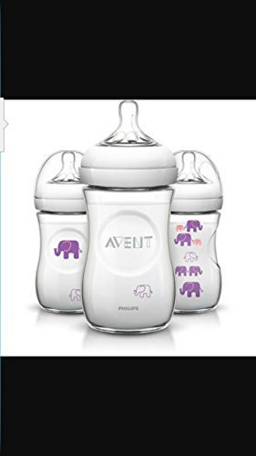 AVENT Elephant 9oz Bottle, BPA-Free, Girl, 3-Pack - 1