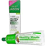 Jason Natural Cosmetics Healthy Mouth Anti-Cavity And Tartar Control Gel Tea Tree Oil & Cinnamon - 6 Oz