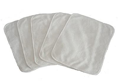 [Extra 20% Off for Only 2 Days] Wegreeco 100% Anti-bacterial Bamboo Wipes - Pack of 5pcs Large Reusable Bamboo Wipes