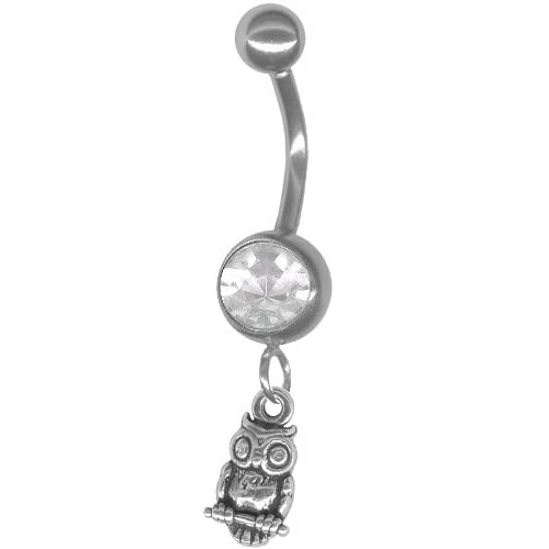 owl navel ring