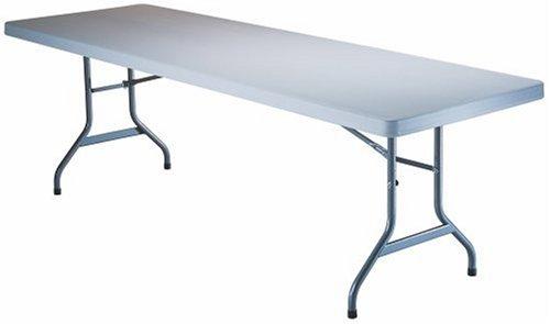 Lifetime 22980 8-Foot Folding Table, White Granite