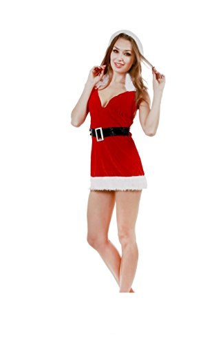 JUNPAI Women's Santa Dress v-neck216