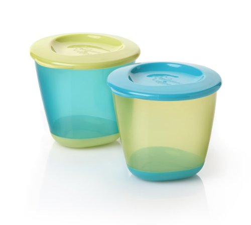Tommee Tippee Explora Pop Up Weaning Pots 2-Count (Boy) front-824888